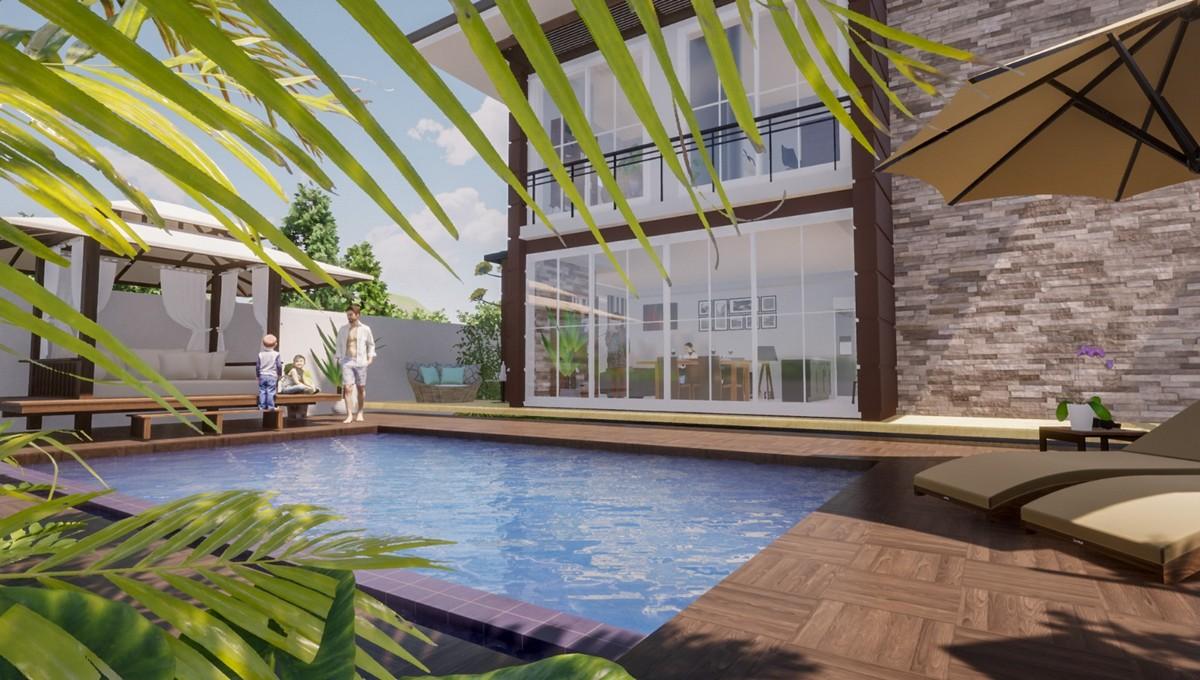 Villa neuve avec piscine privée
